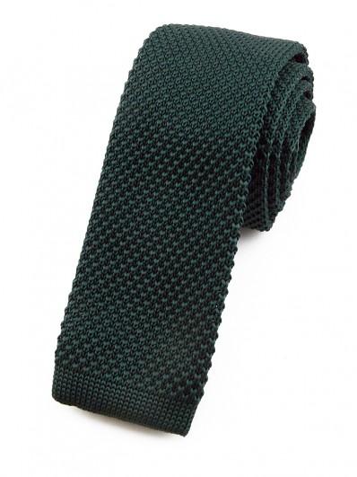 Cravate tricot vert foncé