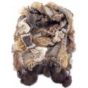 Écharpe tricotée marron