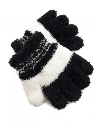Gants noir et blanc