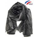 Foulard noir et gris