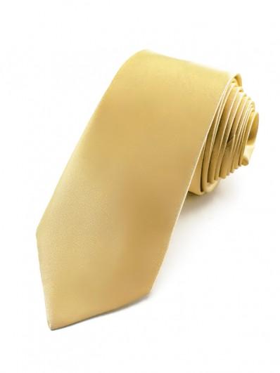 Cravate jaune paille