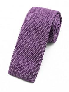 Cravate tricot violet