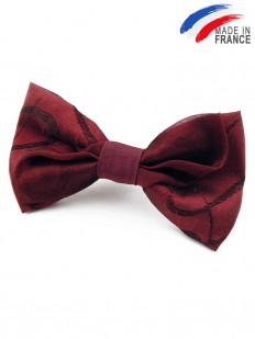 Noeud papillon rouge bordeaux