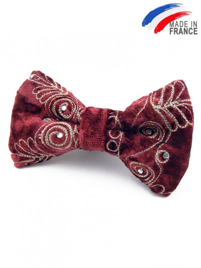 Noeud papillon velours bordeaux