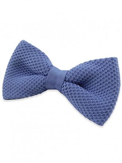 Noeud papillon Tricot Bleu