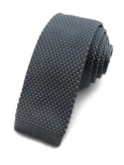 Cravate tricot gris cendré
