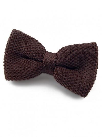 Noeud papillon marron chocolat