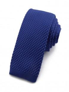 Cravate tricot bleu roi