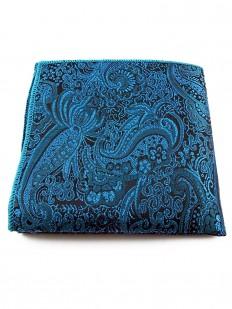 Pochette de costume turquoise