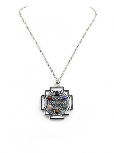 Collier Mandala aux 7 Chakras