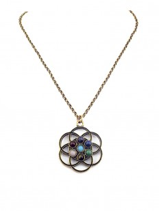 Collier Fleur de Vie 7 Chakras