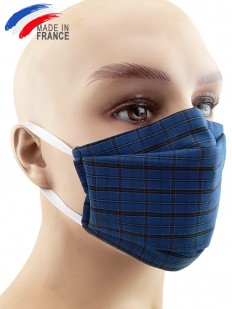 Masque de protection alternatf en coton bleu foncé