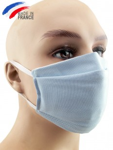 Masque de protection alternatf en coton bleu clair