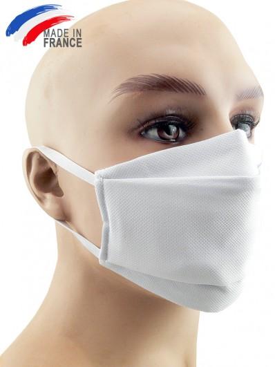 Masque de protection alternatif en coton bleu pâle