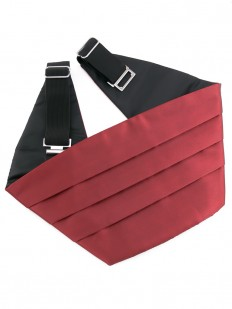 Ceinture Smoking rouge bordeaux