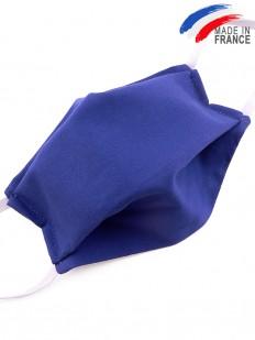 Masque de protection en coton bleu roi