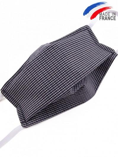 Masque de protection alternatif en coton noir et blanc