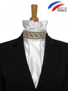 Cravate de dressage mordorée