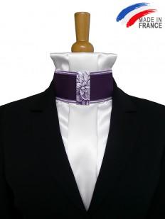 Cravate de dressage prune