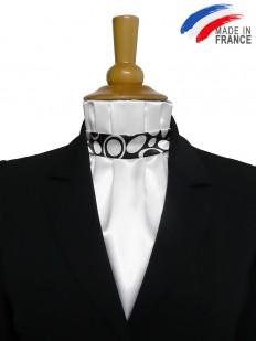 Cravate de dressage noire et blanche