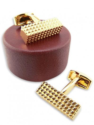 Metal 50 - Bouton de manchette lingot doré