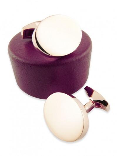 Metal 80 - Bouton de manchette ovale en dorure rose