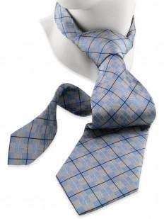 Check 130 - Cravate en tartan Écossais gris et bleu
