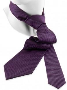 Motive 230 - Cravate faux-uni en petit damier violet et noir