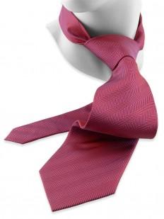 Solid 100 - Cravate couleur framboise & reflets violets en tissage chevron