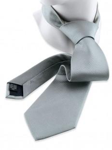Solid 90 - Cravate unie couleur gris-vert à reflets métalliques