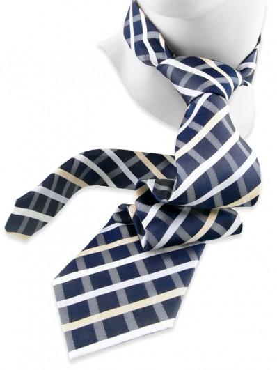 Check 170 - Cravate à carreaux, effet jean.