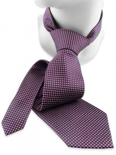 Motive 110 - Cravate en soie tissée de couleur dominante violette